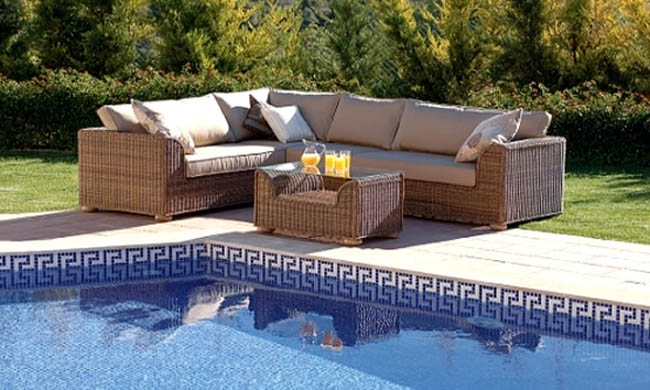 Garden Furniture with Hot Tub