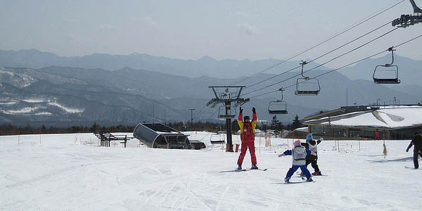 Skiing in Japan