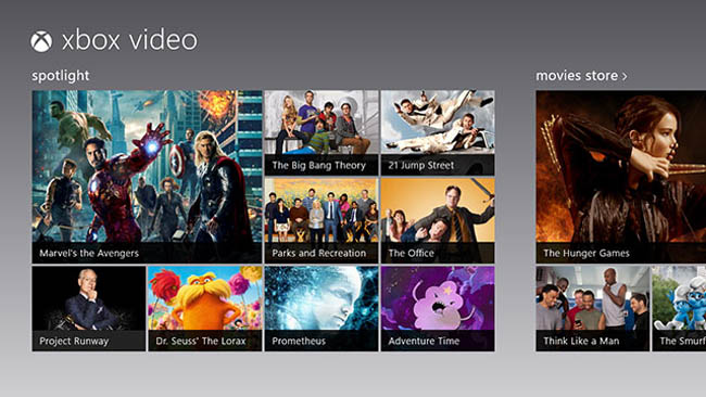 Xbox Video and Xbox Games Apps on Windows 8